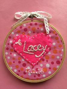 Hoop Embroidery Baby Names
